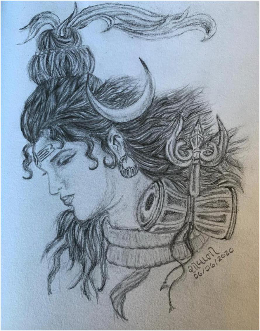 Drawing of Shanker Bhagawan